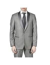 London Fog 男式 Peak 翻领常规版型两件套燕尾服