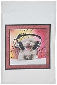 3dRose fl_13269_1 Born Music Lover 花园旗帜,12 x 18 英寸
