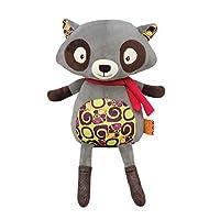 B.Toys 比乐 会说话的浣熊 发声玩具 啃咬可爱毛绒 学人说话 安抚抱枕哄睡 生日礼物 儿童早教 婴幼儿童益智玩具 3岁+ BX1514Z