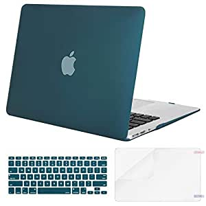Mosiso 笔记本电脑用塑料硬质保护套 带键盘膜和屏幕保护膜 适用于 13 寸 MacBook Air 笔记本电脑(型号:A1369 和 A1466) Deep Teal MacBook Air 13 Inch (A1466 / A1369)