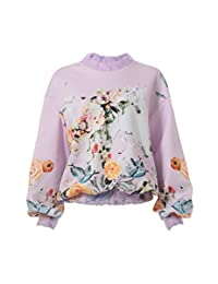 Awaylee 女式 粉色印花套头卫衣 90401570P