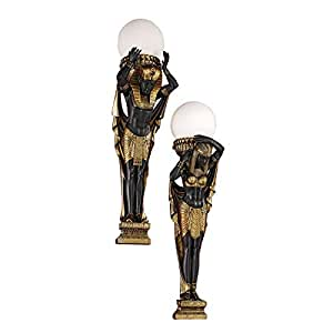 Design Toscano Egyptian Royalty Illuminated Wall Sculptures