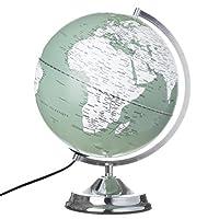 【LE STUDIO】发光 地球仪 明亮 带照明灯 灰色&*