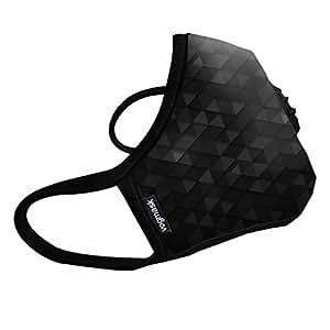 Vogmask N99CV时尚成人防雾霾,PM2.5,防尘户外运动旅行口罩罩 Hero 1只 L号(参考体重:131-200磅/59-90公斤)(进口)