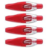 Integra Pen-style 可伸缩矫正带 - 0.64 cm 宽 x 49.53 m 长 - 白色胶带 - 笔式透明分配器 - 可伸缩,不可再填充 - 1 包 - 透明