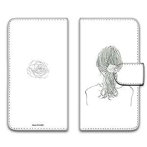 卡丽 壳 印刷手册 女孩子马尾 智能手机壳 手册式 对应全部机型 女の子ポニーテールB 11_ Qua phone QZ KYV44