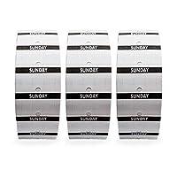 Perco 1 线 - Sunday Labels - 1 个袖套,每卷 3000 个标签 每卷 1000 个标签 Perco 1 线价格和日期枪 - 附赠墨水卷