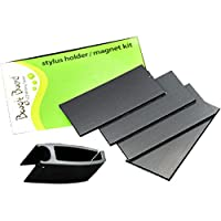 Boogie Board 手写笔夹/磁铁套件 适用于 Boogie Board 8.5 英寸 LCD 书写平板电脑(黑色)
