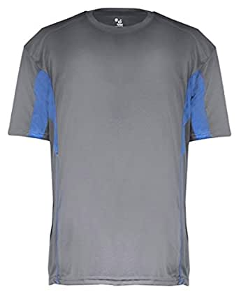 Badger Drive Youth Short Sleeve Tee S Graphite/ Royal