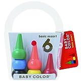 AOZORA 日本制造进口生活创意文具 Baby Color儿童基础系彩色积木无毒无害6色蜡笔