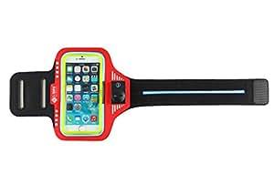 s-triple 超亮360度 Light SPORT 运动臂带适用于10.1英寸智能手机 红色 iPhone 6 PLUS/iPhone 6S PLUS