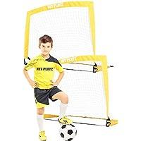 Soccer Goals - 儿童足球目标,便携式弹出式网(后院体育和家庭游戏)2件套