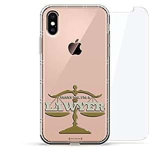 豪华设计师,3D 印花,时尚气袋垫,360 度玻璃保护套装手机壳 iPhoneLUX-IXAIR360-LAWYER1 Trust Me Lawyer Quote 透明