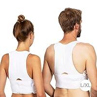 Relaxdays 后背矫正器,男女适用,不同尺寸,白色 白色 110 cm 10024359_877