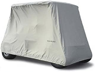 "Goldline Universal Slip-On 2 Passenger Golf Cart Cover 90""L x 48""W x 62""H - Charcoal"
