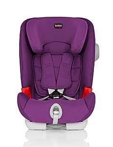 Britax 宝得适 儿童安全座椅 百变骑士 IISICT Plus-Advansafix Plus 五点式安全带 isofix 闪耀紫 适合约9个月-12岁