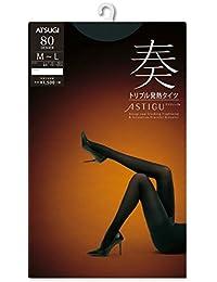 (厚木)ATSUGI 緊身褲襪 ASTIGU (ASTIGU)【奏】三重發熱緊身褲襪 80D 黑色 L~~LL~