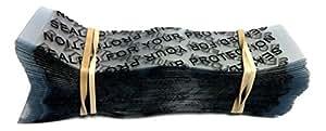 """彩色收缩带 [颜色和尺寸选项] Clear with Black Text 110 x 28 Fits [2 1/4"""" - 2 1/2""""] Diameter SPSHRINKPRINT"""