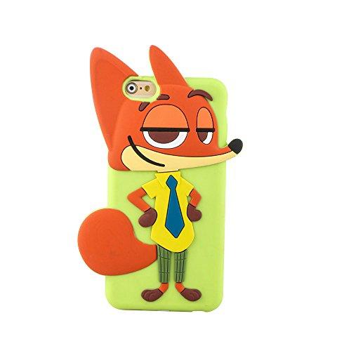 影时光 疯狂动物城 狐狸手机壳 软壳硅胶贴身设计防摔防磨 适合机型