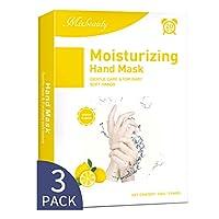 干燥手部护手罩3件装,Mixbeauty 保湿手套,滋润修复受损、干燥和皲裂皮肤,手部SPA*,用于舒缓和*粗糙皮肤 柠檬 Lemon