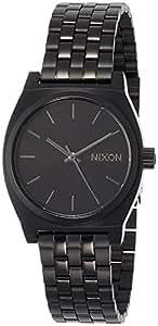 NIXON MEDIUM TIME TELLER: ALL BLACK NA1130001-00 【正规进口商品】
