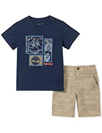 Timberland 添柏岚男孩 2 件短裤套装