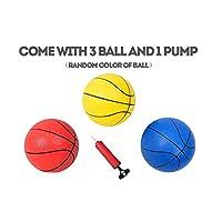 Pantrasamia 儿童篮球篮筐便携式篮球架,带有 3 个不同高度的篮筐和 3 个球玩具套装,适合 2 岁及以上儿童,室内和室外运动游戏 球拍