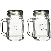Kikkerland 梅森罐盐和胡椒瓶 透明 1 OZ.   30 ML SP16