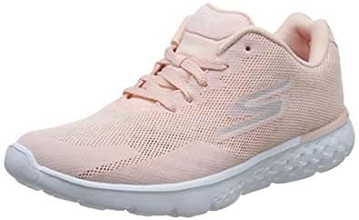 Skechers 斯凯奇 GO RUN 400系列 女 透气三明治网布轻质跑鞋 15299-LTPK 浅粉色 38 (US 8)
