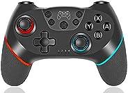 任天堂Switch的無線控制器,無線開關游戲手柄兼容任天堂Switch控制臺,雙電動馬達和6軸陀螺運動??夭僮莞?,適用于任天堂Switch。