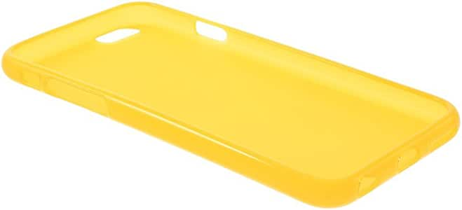 JUJEO iPhone 6 4.7-Inch Glossy Outer Matte Inner Soft TPU Shell - Retail Packaging - Yellow