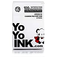 YoYoInk 5 件裝兼容墨盒替換裝適用于 PGI-225 & CLI-226(1 黑色,1 照片黑色,1 深藍色,1 品紅色,1 黃色)適用于 MG5220 MG5320 MX882 MX892 MG6220