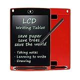 LCD 手写平板电脑 wristel 4.7英寸耐用绘图和纸板及电子纸板及板儿童和成人 红色
