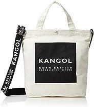 [坎戈尔]托特包 KANGOL商标印刷皮带 厚帆布 2WAY单肩包 M 双面