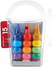 BabyColors 基本色混装儿童蜡笔 15 色
