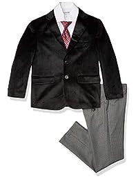 Isaac Mizrahi 男孩天鹅绒套装 4 件套