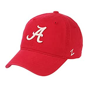 Zephyr NCAA 男士休闲合身*学金 - 可调棉圆领帽 Alabama Crimson Tide 可调节