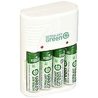 Ultralast AA/AAA 电池充电器带 4 个绿色 AA 预充电电池 ULGVALUE4