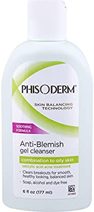 pHisoderm pH 抗漂白凝胶洁面乳,pH 平衡,6 液体盎司 4片装