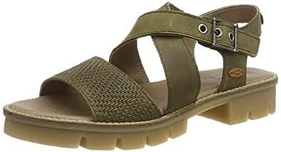 Camel Active 女士 Canberra S. 71 防水台凉鞋 (Olive 3) 8