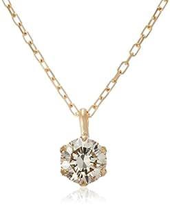 [D-COLLECTION] D-COLLECTION 18K黄金钻石项链 0.3ct DS20153YG