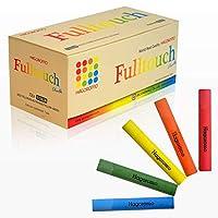 HAGOROMO Fulltouch 彩色粉筆 1 盒,*,無塵 [72 件] 1Box (72pcs) 5 Color Mix