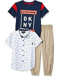 DKNY 男童短袖梭织,T 恤和套穿裤
