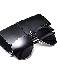 威古氏 明星同款 偏光太阳镜男潮人男士墨镜2018新款开车驾驶司机镜眼镜男潮 (黑框灰片)