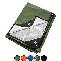 Arcturus 全天候户外生存毯 - 适合各种用途,保暖,反光 - 152.40 cm x 208.28 cm