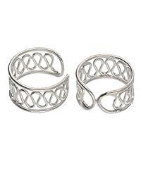 纯银卷绕线耳式耳环