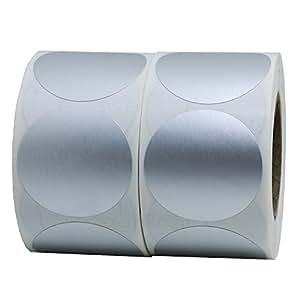 Hybsk 金属银色标签 3.81 厘米圆形彩色编码点贴纸每卷 500 张 2 Rolls 金色