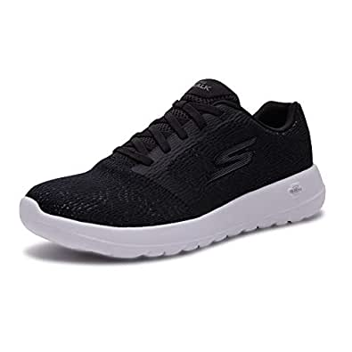 Skechers 斯凯奇 SKECHERS GO WALK MAX系列 男 休闲跑步鞋 轻质松紧带健步鞋 54607-BKW 黑色/白色 43 (US 10)