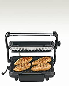 Hamilton Beach 25451 Indoor Grill with 85-Inch Cooking Surface, Stainless Steel