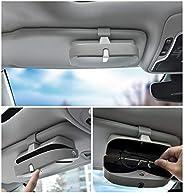 CDEFG 通用太阳镜盒,汽车眼镜架,眼镜收纳盒,汽车眼镜收纳盒 灰色 DFTYJH-TY-H